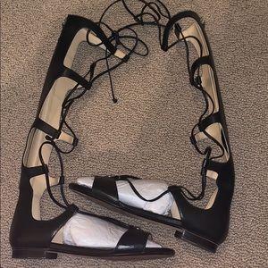 Black Gladiator Sandals - Micheal Kors